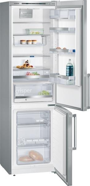 Siemens KG39EBI41 Kühl-Gefrier-Kombination Türen Edelstahl antiFingerPrint, Seitenwände silber