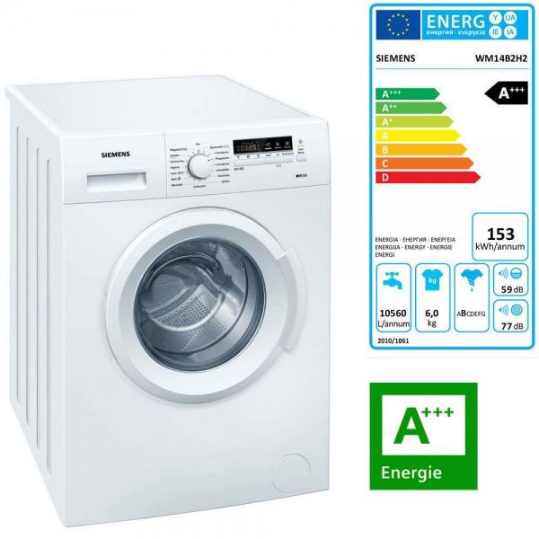 Siemens WM 14B 2H2 Waschvollautomat 6kg; EEK: A+++
