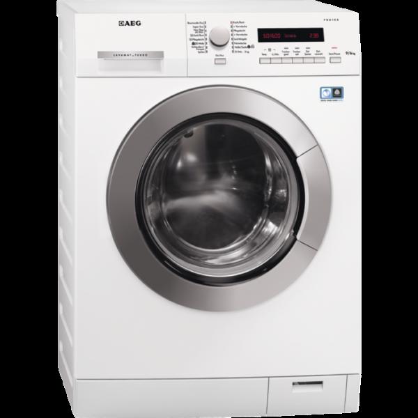 AEG L75694WD 9 kg ProTex Trommel, 6 kg Non-Stop Waschen und Trocknen, silberne Tür, silberner Drehwä