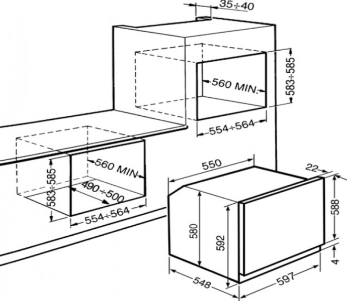 smeg sf6431gvxd einbaugasbackofen anti fingerprint. Black Bedroom Furniture Sets. Home Design Ideas