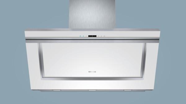 Siemens lc91kb272 weiß weiß mit glasschirm 90 cm wand esse