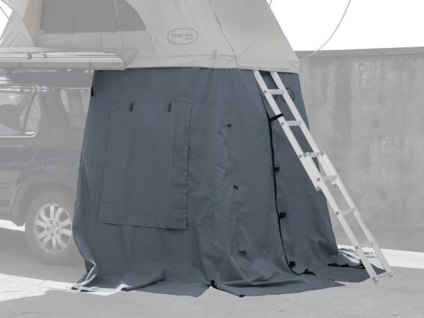 Prime Tech ® Vorzelt zum Autodachzelt Wasteland XXL grau, 180x120x200cm