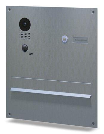 DoorBird IP Video Türstation D203, Edelstahl Frontblende, Mauerdurchwurfanlage Edition