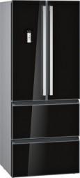 Siemens KM40FSB20 Frenchdoor Kühl-Gefrierkombination, no Frost Glastüren schwarz Seitenwände s