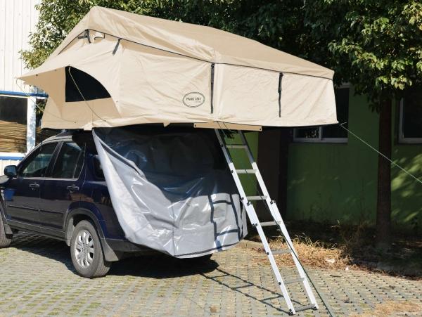 Prime Tech ® Autodachzelt Extended XXL, beige - 320x180x130cm (ohne Vorzelt)