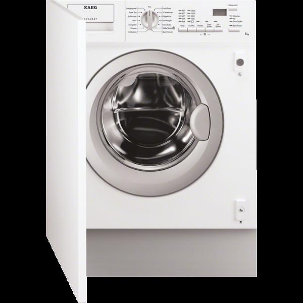 AEG L61470BI 7 kg, LC-Display, Startzeitvorwahl, Aqua Control System mit Alarm, 1400 U/min = B Schle