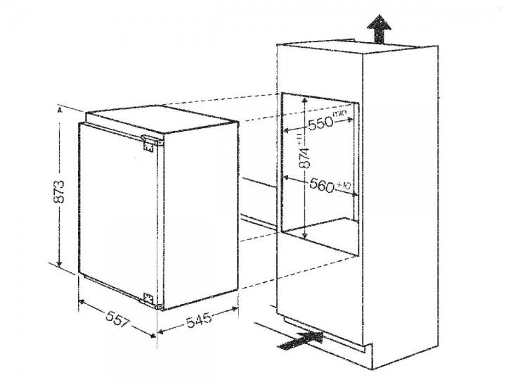 bauknecht krie 2881 a einbau k hlschrank nische 88 festt r montage bauknecht einbau. Black Bedroom Furniture Sets. Home Design Ideas