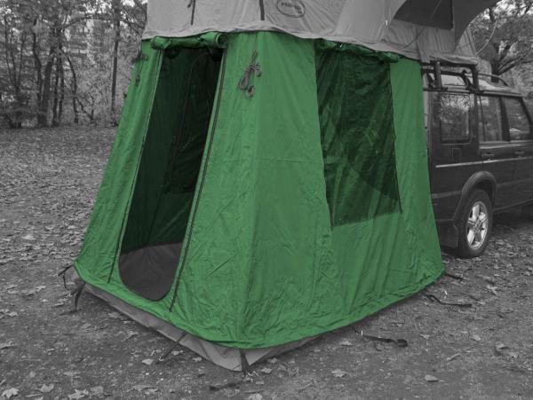 Prime Tech ® Vorzelt zum Autodachzelt Extended grün 140cm