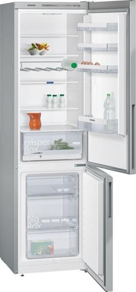 Siemens KG39VVI31 Kühl-Gefrier-Kombination Türen Edelstahl antiFingerPrint, Seitenwände silber