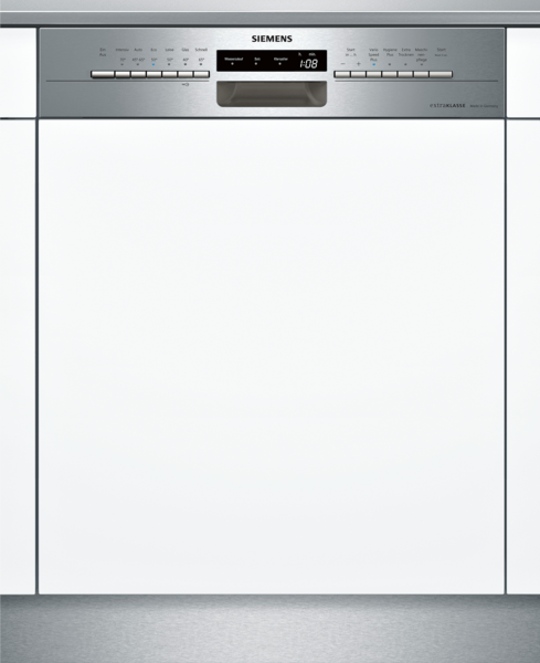 SIEMENS SN536S02ID Extraklasse iQ300, Teilintegrierter Geschirrspüler, 60 cm, Edelstahl