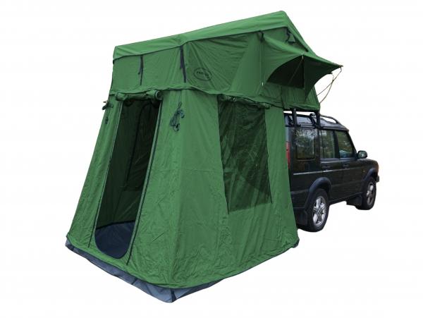 Prime Tech ® Autodachzelt Extended, grün - 320x140x130cm (inkl. Vorzelt)