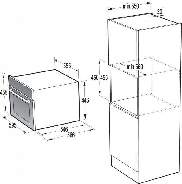 Gorenje BCM 547 S12X; Kompakt-Einbaubacköfen   Kompakt-Geräte ...   {Einbaubacköfen 3}