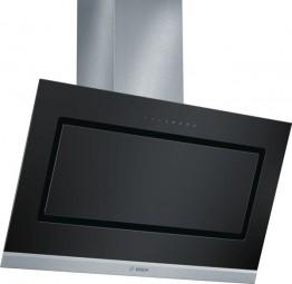 Bosch DWK098G60 schwarz schwarz mit Glasschirm Wandesse, 90 cm Schräg-Essen-Design