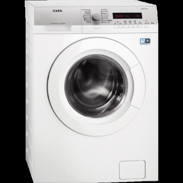 AEG L76685WD 8 kg ProTex Trommel, 4 kg Non-Stop Waschen und Trocknen, silberne Blende, großes LC-Dis