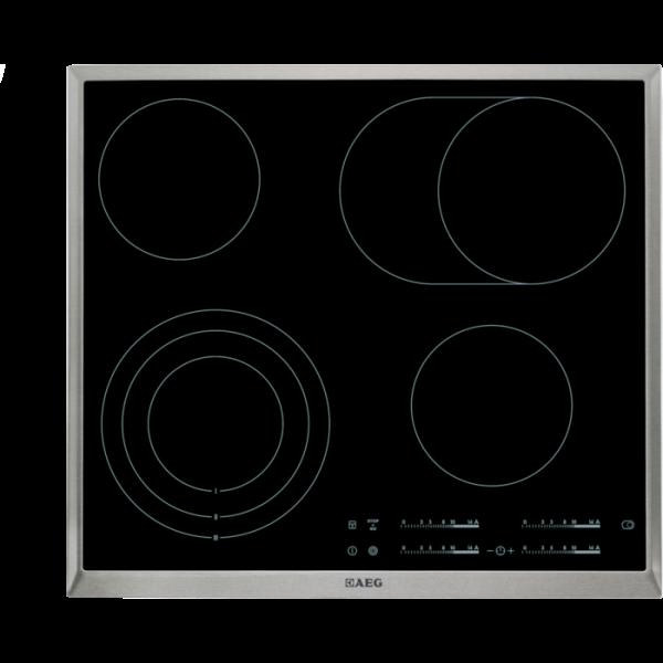AEG HK654070XB 60 cm, Direct Control, 4 elektronische Automatikkochstellen, STOP & GO-Funktion, Opti