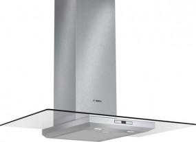 Bosch DWA098E50 Edelstahl mit Glasschirm Wandesse, 90 cm Glas-Design