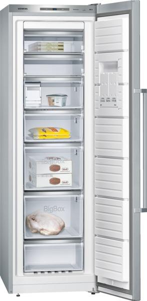 Siemens GS36NAI31 Stand-Gefrierschrank, noFrost Türen Edelstahl antiFingerPrint IQ500