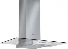 Bosch DWA097A50 Edelstahl mit Glasschirm Wandesse, 90 cm Glas-Design