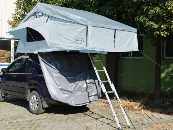 Prime Tech ® Autodachzelt Extended, grau - 320x140x130cm (ohne Vorzelt)