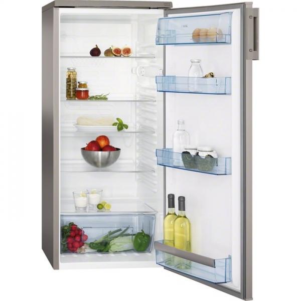 AEG S32500KSS1 125 x 55 cm, Nutzinhalt: 240l, Edelstahl-Tür, Seiten silber, Glasablagen, Energieeffi