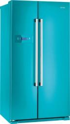 Gorenje NRS 85728 BL SideBySide Edelstahl blau
