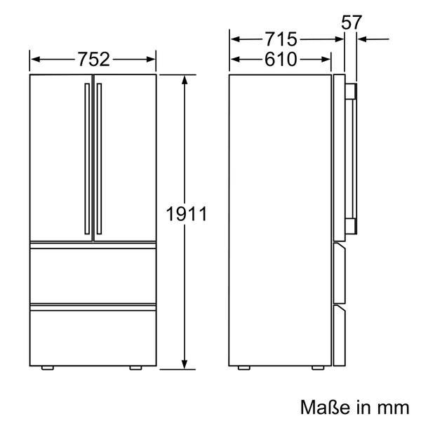 siemens km40fsb20 frenchdoor k hl gefrierkombination no. Black Bedroom Furniture Sets. Home Design Ideas