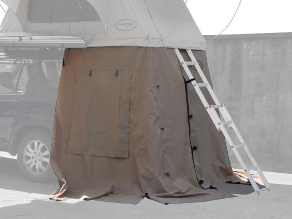 Prime Tech ® Vorzelt zum Autodachzelt Wasteland XXL beige, 180x120x200cm