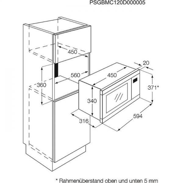 aeg mc1753e m 50 cm 17 liter leichtbedienelektronik led funktionsanzeige 5 leistungsstufen. Black Bedroom Furniture Sets. Home Design Ideas
