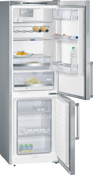 Siemens KG36EAL43 Kühl-Gefrier-Kombination Türen Edelstahl-Look, Seitenwände silberfarben I